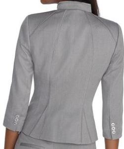 Grey Blazer Back